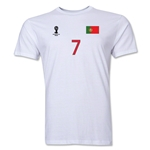 Portugal FIFA World Cup Brazil(TM) Men's Number 7 Premium T-Shirt (White)
