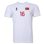 Portugal FIFA World Cup Brazil(TM) Men's Number 16 Premium T-Shirt (White)