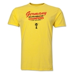 Germany 2014 FIFA World Cup Brazil(TM) Men's Champions Script T-Shirt (Yellow)