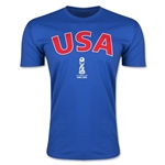 USA FIFA U-17 World Cup Chile 2015 Men's Premium T-Shirt (Royal)