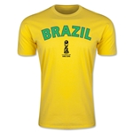 Brazil FIFA U-17 World Cup Chile 2015 Men's Premium T-Shirt (Yellow)