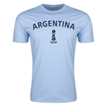 Argentina FIFA U-17 World Cup Chile 2015 Men's Premium T-Shirt (Sky Blue)