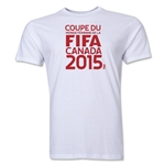 FIFA Women's World Cup Canada 2015(TM).French Logotype T-Shirt (White)