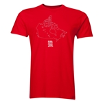 FIFA Women's World Cup Canada 2015(TM) Canada Outline T-Shirt (Red)