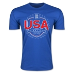 USA FIFA Women's World Cup Finalist Men's Fashion T-Shirt (Royal)