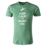 Keep Calm and Parry On Men's Fashion T-Shirt (Heather Green)