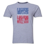 I Believe Men's Fashion T-Shirt (Gray)