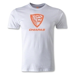 Jaguares de Chiapas Distressed Men's Fashion T-Shirt (White)