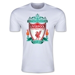Liverpool Crest Men's Fashion T-Shirt (White)