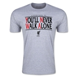 Liverpool You'll Never Walk Alone Men's Fashion T-Shirt (Gray)