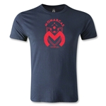 Morelia Monarcas Distressed Logo Men's Fashion T-Shirt (Navy)
