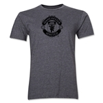 Manchester United Tonal Crest Men's Fashion T-Shirt (Dark Gray)
