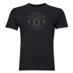 Manchester United Tonal Crest Men's Fashion T-Shirt (Black)