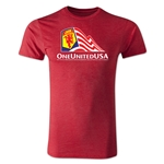One United USA Men's Fashion T-Shirt (Heather Red)