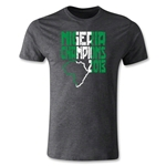 Nigeria 2013 Champions of Africa Men's Fashion T-Shirt (Dark Gray)