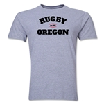 Rugy Oregon Logo Premier T-Shirt (Gray)