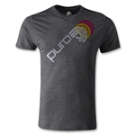 Puro Futebol Distressed Icon Repeat Men's Fashion T-Shirt (Dark Gray)