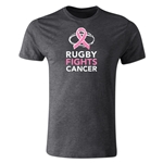 Rugby Fights Cancer Premium T-Shirt (Dk Gray)