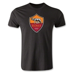 AS Roma Crest Men's Fashion T-Shirt (Black)