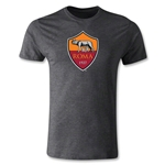 AS Roma Crest Men's Fashion T-Shirt (Dark Gray)