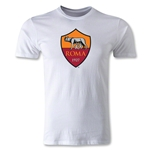 AS Roma Logo Men's Fashion T-Shirt (White)