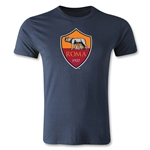 AS Roma Logo Men's Fashion T-Shirt (Navy)