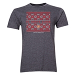 FC Santa Claus Christmas Sweater Men's T-Shirt (Dark Grey)