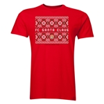 FC Santa Claus Christmas Sweater Men's T-Shirt (Red)