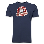 FC Santa Claus Animated Santa Men's T-Shirt (Navy)