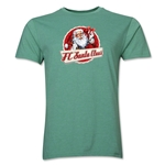 FC Santa Claus Animated Santa Men's T-Shirt (Heather Green)