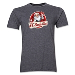 FC Santa Claus Animated Santa Men's T-Shirt (Dark Grey)