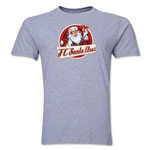 FC Santa Claus Animated Santa Men's T-Shirt (Grey)