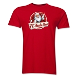 FC Santa Claus Animated Santa Men's T-Shirt (Red)