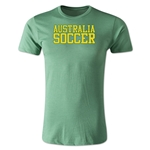 Australia Soccer Supporter Men's Fashion T-Shirt (Heather Green)