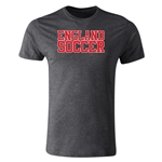 England Soccer Supporter Men's Fashion T-Shirt (Dark Gray)