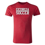 Georgia Soccer Supporter Men's Fashion T-Shirt (Heather Red)