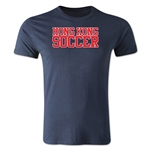 Hong Kong Soccer Supporter Men's Fashion T-Shirt (Navy)