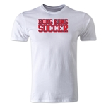 Hong Kong Soccer Supporter Men's Fashion T-Shirt (White)