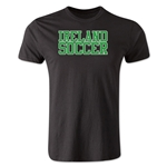 Ireland Soccer Supporter Men's Fashion T-Shirt (Black)