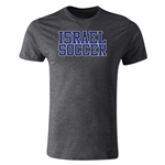 Israel Soccer Supporter Men's Fashion T-Shirt (Dark Gray)