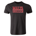 Malta Soccer Supporter Men's Fashion T-Shirt (Black)