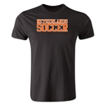 Netherlands Soccer Supporter Men's Fashion T-Shirt (Black)