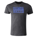 Samoa Soccer Supporter Men's Fashion T-Shirt (Dark Gray)
