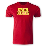 Spain Soccer Supporter Men's Fashion T-Shirt (Red)