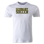 Germany Soccer Supporter Men's Fashion T-Shirt (White)