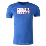 Croatia Soccer Supporter Men's Fashion T-Shirt (Royal)