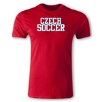 Czech Soccer Supporter Men's Fashion T-Shirt (Red)