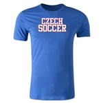 Czech Soccer Supporter Men's Fashion T-Shirt (Royal)