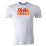 Ghana Soccer Supporter Men's Fashion T-Shirt (White)