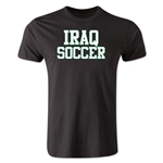 Iraq Soccer Supporter Men's Fashion T-Shirt (Black)